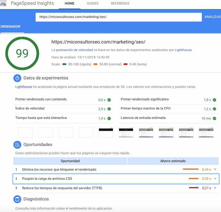 herramientas para medir la velocidad web