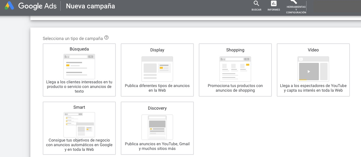 google adwords campana google shopping